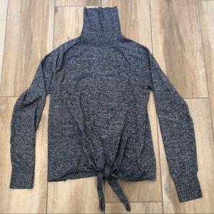{GAP} Tie Front Turtleneck Sweater